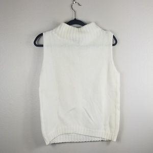 Weekend Max Mara White Turtleneck Sweater Vest